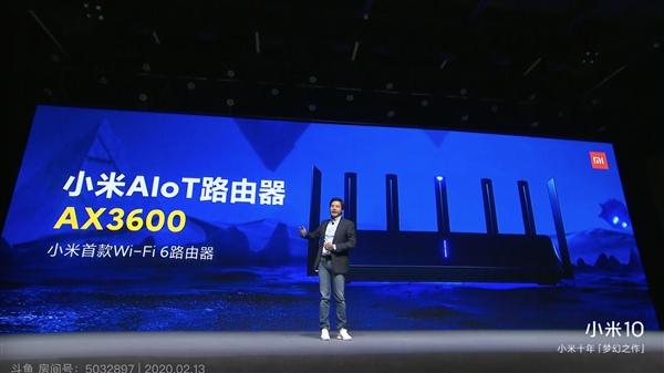 小米首款Wi-Fi 6旗舰路由器AX3600正式发布:599元