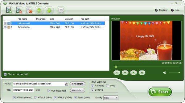 iPixSoft Video to HTML5 Converter(HTML5视频转换器)中文字字幕在线中文无码