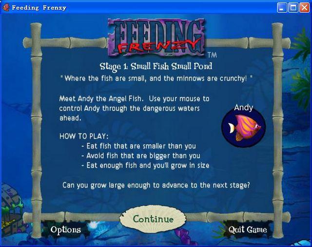 大鱼吃小鱼单机游戏(Feeding Frenzy)下载