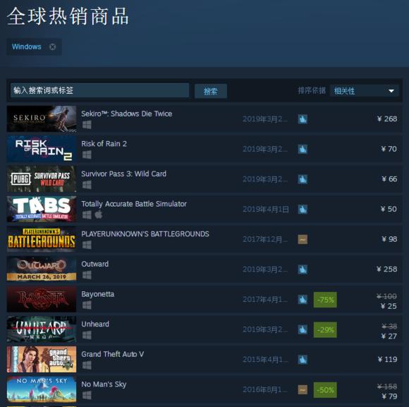 Steam2019年有哪些值得买的游戏 2019必买电脑游戏一览