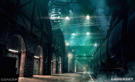 《最终幻想7重制》发布新概念图展示米德加一号街