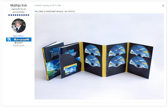 《微软飞行模拟》实体版包含10张光碟 附带飞行手册