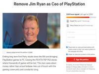 国外愤怒玩家发起请愿 要求SIE总裁Jim Ryan下台