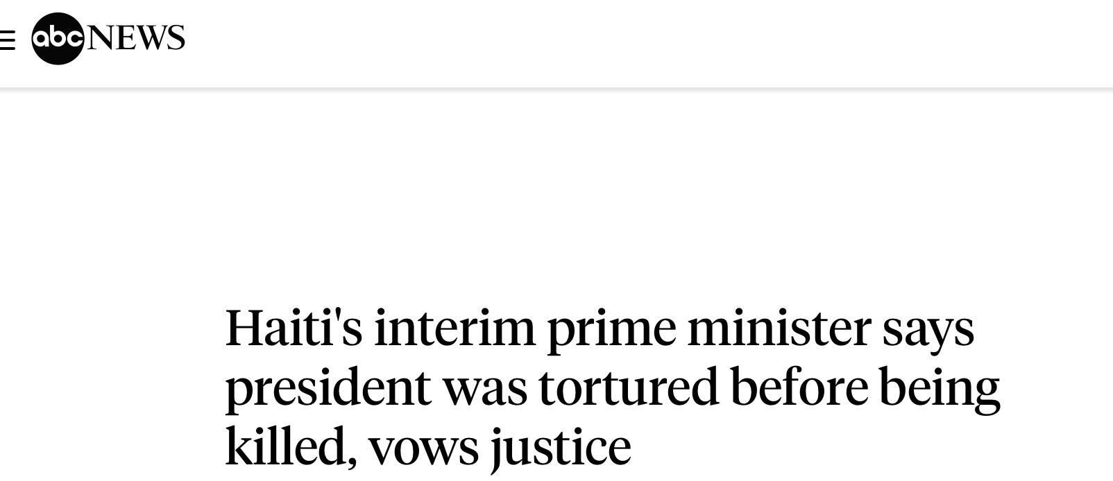 海地总统被刺杀前曾遭酷刑 海地总统被刺杀更多细节曝光