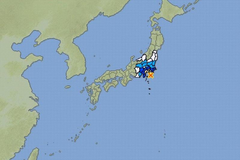 日本东京发生5.5级地震 东京都八丈岛发生5.5级地震