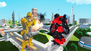 大猩猩机器人粉碎城市