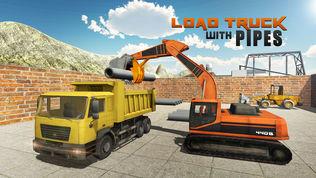 重型挖掘机起重机模拟器3D软件截图2