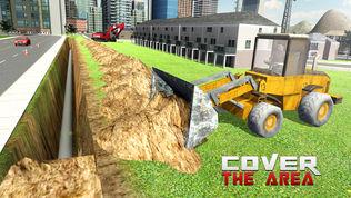 重型挖掘机起重机模拟器3D软件截图0