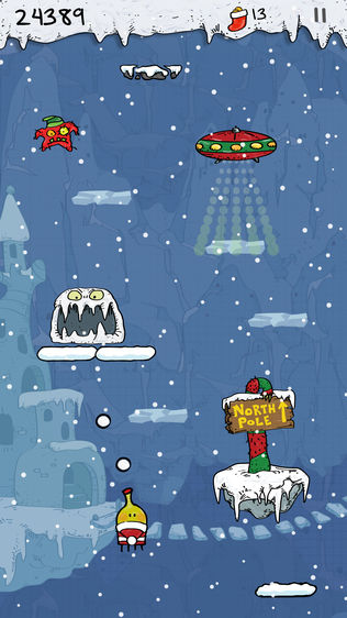 Doodle Jump Christmas Special软件截图0