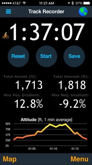 MotionX GPS软件截图2