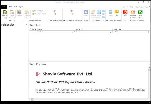 Shoviv Outlook psT Repair(PST修复程序)下载