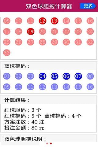 双色球复式计算器