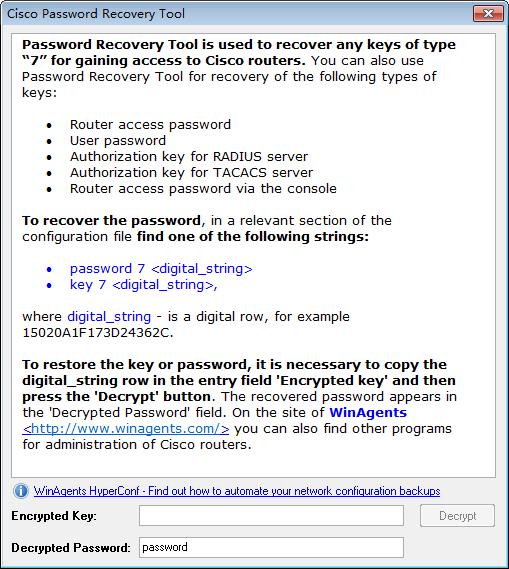 Cisco Password Recovery tool(Cisco密码查看工具)下载