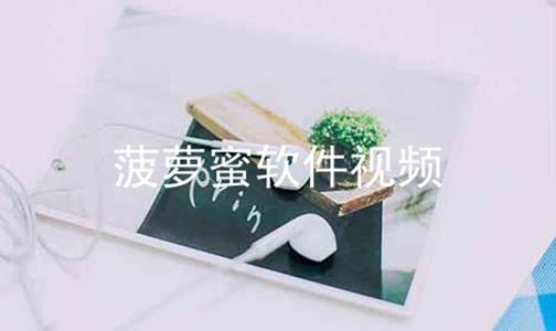菠萝蜜软件视频