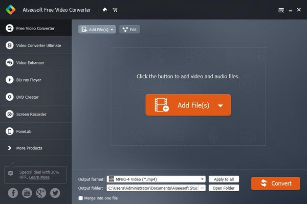 Aiseesoft Free Video Converter(视频转换工具)下载