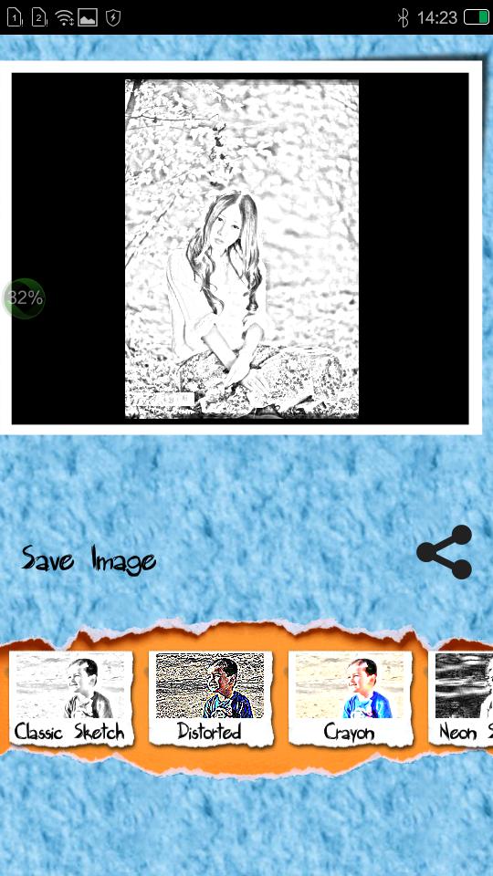 素描滤镜照相机软件截图2