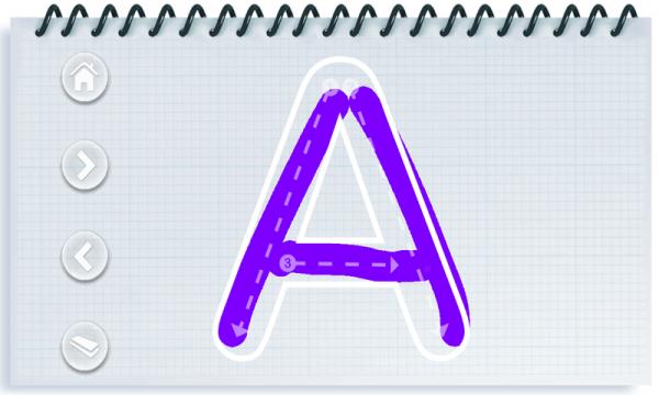 小孩学写字母