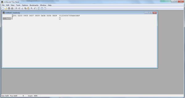 Tiny hexer(十六进制文件编辑器)下载