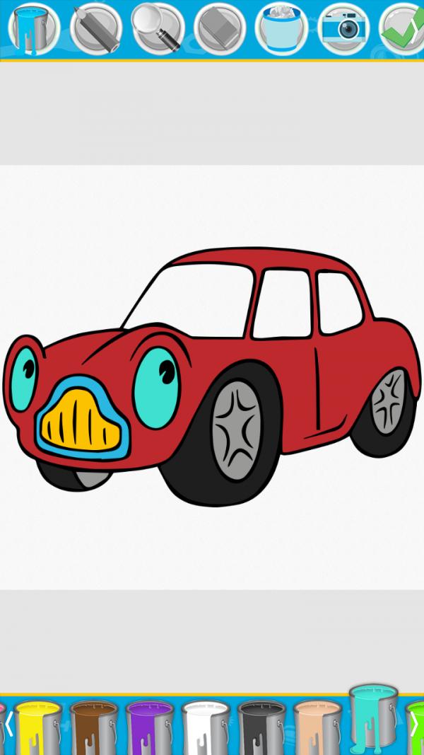 宝宝爱涂色汽车篇软件截图1