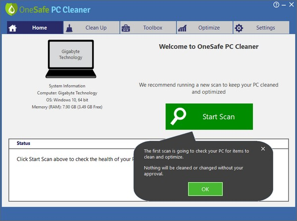 OneSafe PC Cleaner Pro(<a href=