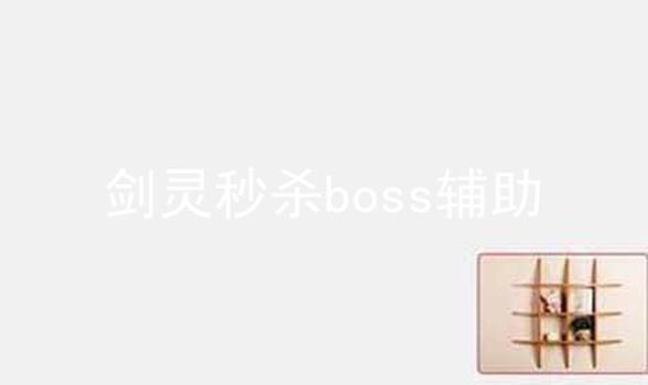 剑灵秒杀boss辅助软件合辑