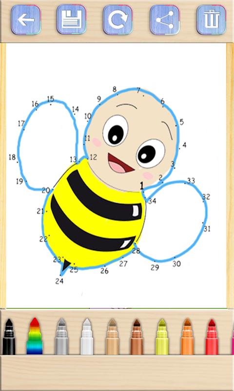 动物连线儿童画画游戏软件截图1