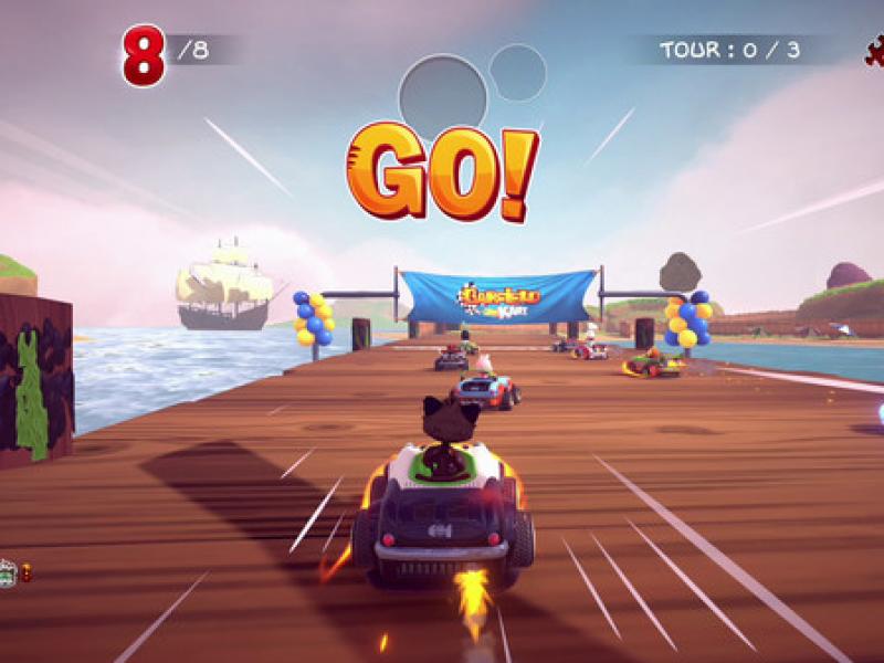 加菲猫卡丁车:激情竞速 英文版下载