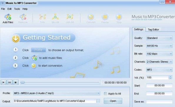 Music to MP3 Converte(音乐格式转换工具)