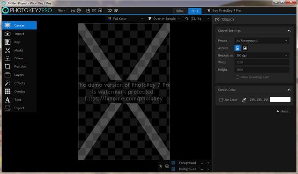 FXhome PhotoKey(蓝绿背景抠图工具)