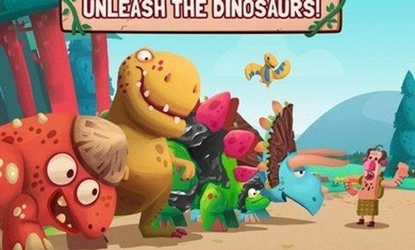 恐龙大战洞穴人软件截图0