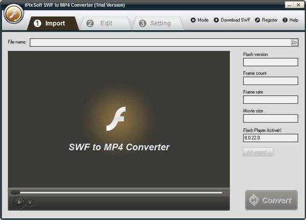 iPixSoft SWF to MP4 Converter(SWF转MP4软件)