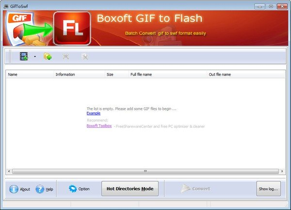 Boxoft GIF To Flash(视频格式转换器)