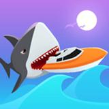 饥饿的鲨鱼冲浪者