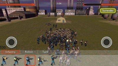 僵尸入侵战争模拟器