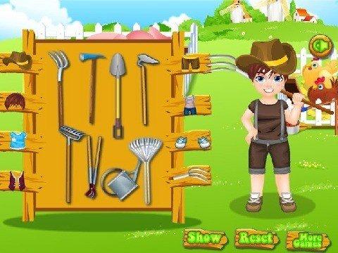 小男孩的农场游戏