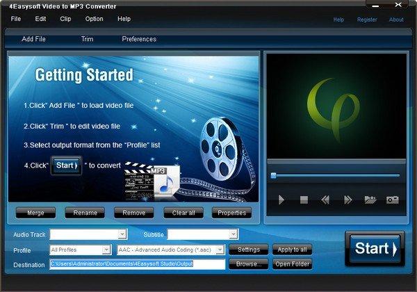 4Easysoft Video to MP3 Converter(音频转换器)