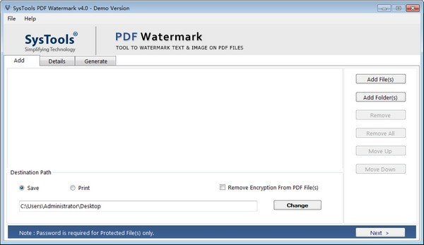 SysTools PDF Watermark(PDF水印去除工具)