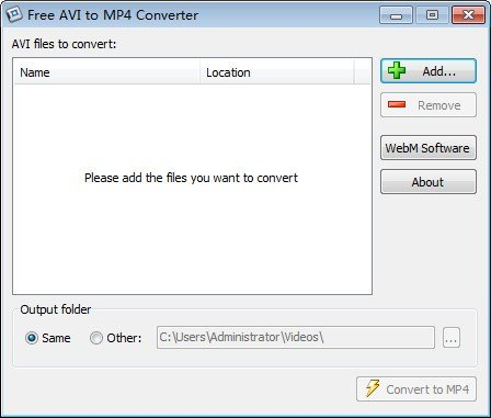 Free AVI to MP4 Converter(免费AVI转MP4转换器)下载