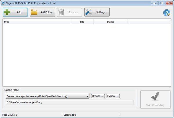 Mgosoft XPS To PDF Converter(XPS转PDF软件)下载