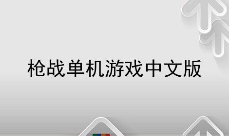枪战单机游戏中文版