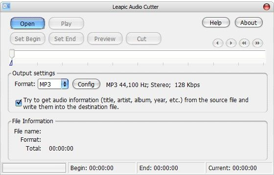 Leapic Audio Cutter(音频文件切割工具)