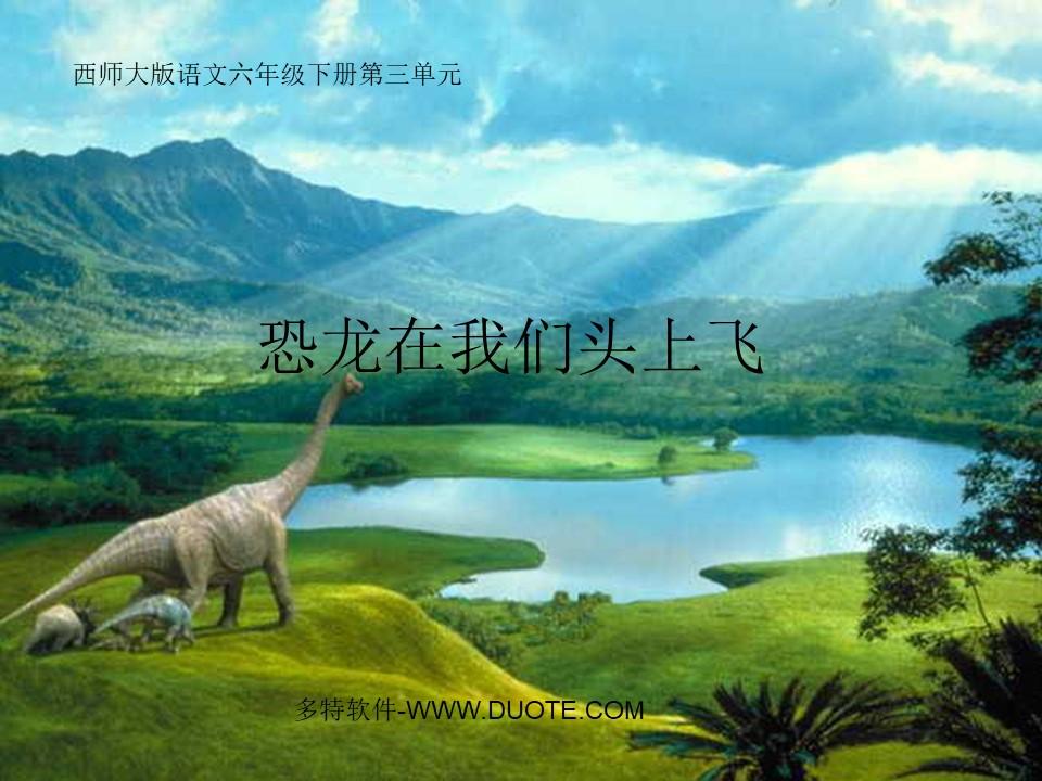 《恐龙在我们头上飞》PPT课件3下载
