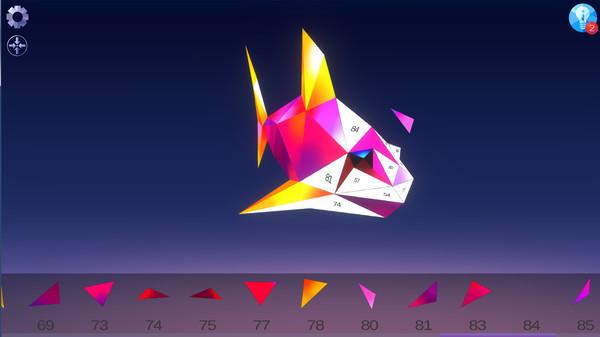 低多边形3D:数字拼图下载