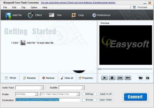 4Easysoft Free Flash Converter(视频格式转换软件)