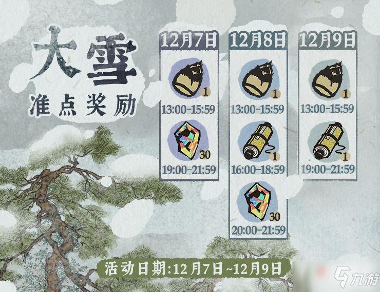 《江南百景图》大雪准点奖励是什么 大雪准点奖励内容汇总