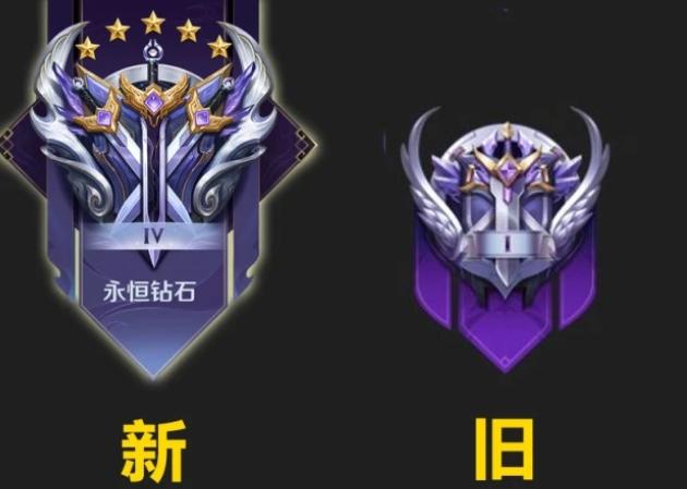2021王者荣耀S22赛季段位新旧图标对比欣赏