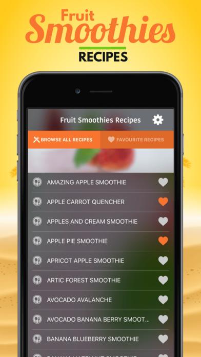 Fruit Smoothies Recipes软件截图1