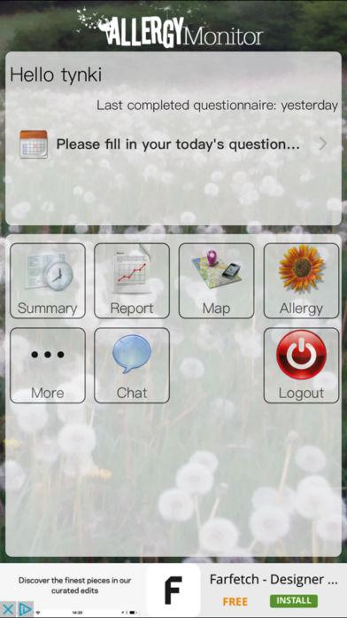 AllergyMonitor软件截图1