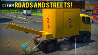 城市垃圾车司机模拟器:一个真正的驾驶考试游戏软件截图0