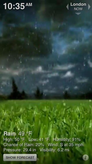 Weather HD Classic软件截图0